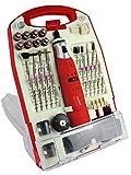 Matrix Akku Minischleifer, Multifunktioswerkzeug, 118 tlg. Zubehör, im Koffer, 18.000 U/min, 1300mAh Li-Ion Akku