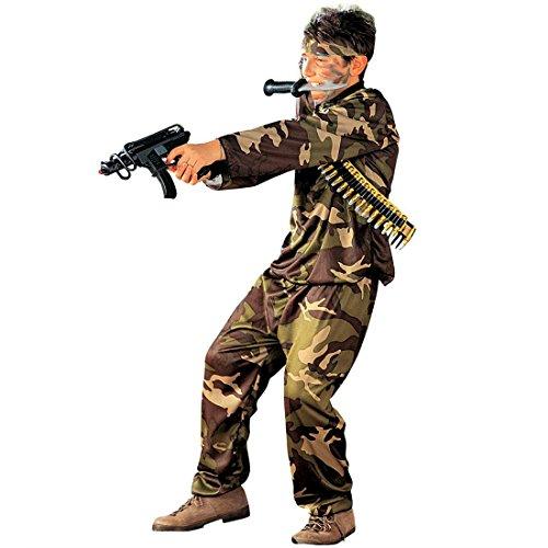Army Kostüm Soldat Kinderkostüm Armee Soldatenkostüm Kinder Fasching Soldaten Krieger Faschingskostüm Krieg Militär Kämpfer Karnevalskostüm US Soldier Uniformen Mottoparty Verkleidung Karneval Kostüme für Jungen