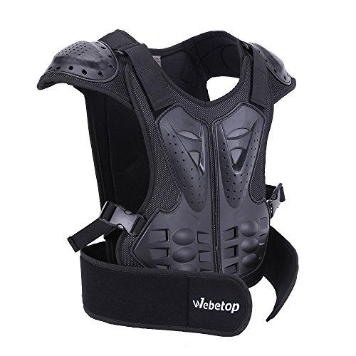 Webetop Kinder Protektoren Jacke Rückenprotektor Brustpanzer für Moto Cross Motorrad MX Skateboarding Sportliche Aktivitäten Schwarz M Test