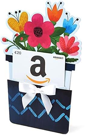carte cadeau 20 dans un tui pot de fleurs ch ques cadeaux. Black Bedroom Furniture Sets. Home Design Ideas