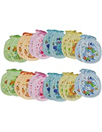 Kotton Labs Boys Cotton Mittens (Multicolour, 3-6 Months) - Pack of 12