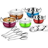 Classic Essentials Stainless Steel Handi Set, 10-Pieces, Assorted Colours