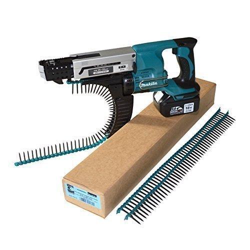 Preisvergleich Produktbild Makita Akku-Magazinschrauber DFR550 mit wzw-Akku + Koffer + Gurtmagazinschrauben