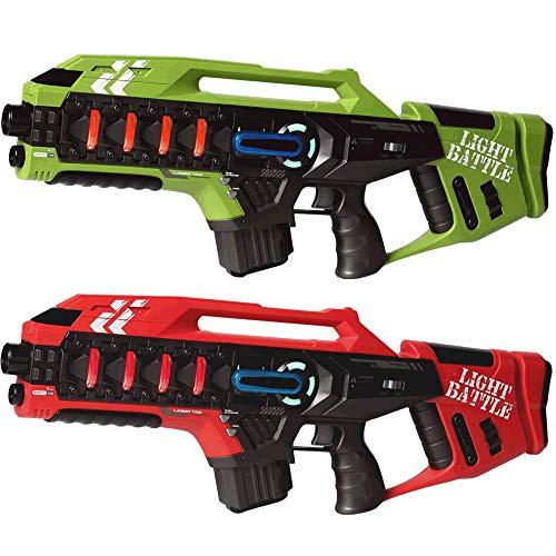 Light Battle Lasertag Spiel für Kinder Kaufen? 2 Anti-Cheat Laser Tag Gewehre - Laser Game Toy Gun für zu Hause | Grün + Rot | LBAPG10212