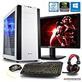 Komplett PC Set Gaming M25W, i7-8700 6x3.2 GHz, 24 Zoll TFT, Maus Tastatur Headset, 16GB DDR4, 1TB HDD, GTX1080 8GB, Windows 10 Spiele Computer zusammengestellt in Deutschland Desktop Rechner