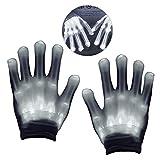 DMbaby Geschenke für Kinder ab 3-13 Jahre, Geschenke für Mädchen Jungs LED Blinklicht Bunte Rave Party Handschuhe Weiß Weihnachten G08