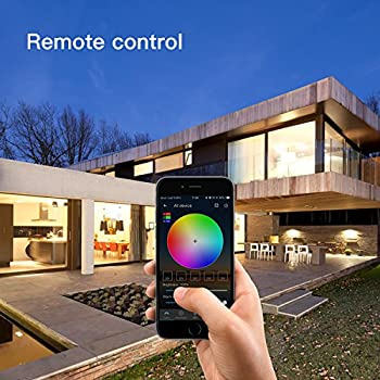 Magic Hue Led Mini Wifi Rgbw Gegenwert 40w Lampe, Dimmbar Energiesparlampen Mit Amazon Echo Alexa, Google Home, Ifttt, Sunrise 16 Mio Farben Leuchtmittel Sonnenaufgang E27 Für Android Und Ios 8