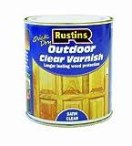 Rustins - Smalto da esterni per vernici lucide/opache, colore: Trasparente Satin 500ML