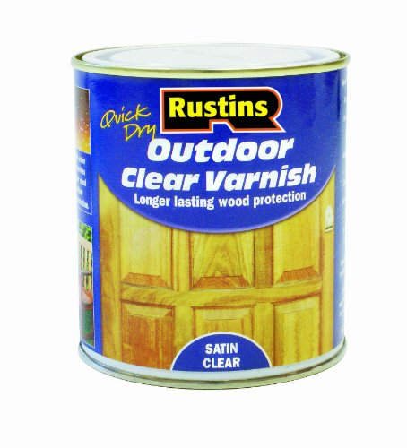 Rustins EAVS1000 1L Outdoor Varnish Satin - Clear