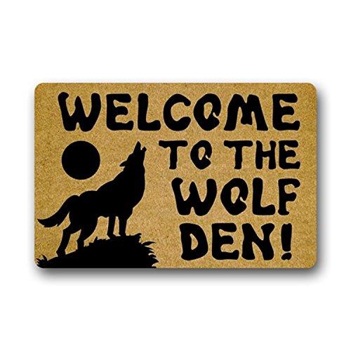 Eureya Custom Fußmatte Welcome to The Wolf den. Rutschfeste Fußmatte Welcome Boden Fußmatte Innen Außen 40x 60cm