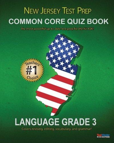 NEW JERSEY TEST PREP Common Core Quiz Book Language Grade 3