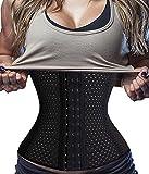 Gotoly Magic Slimming Waist Trainer Corset Sport Workout Body Shaper Tummy Fat Burner (X-Large, Black)