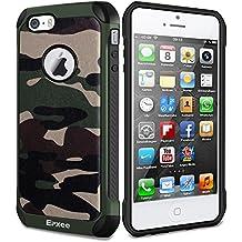Funda iPhone 5, Epxee Silicona [Shock-Absorción] Case Carcasa para Apple iPhone 5 / 5S / SE (Camuflado-001)