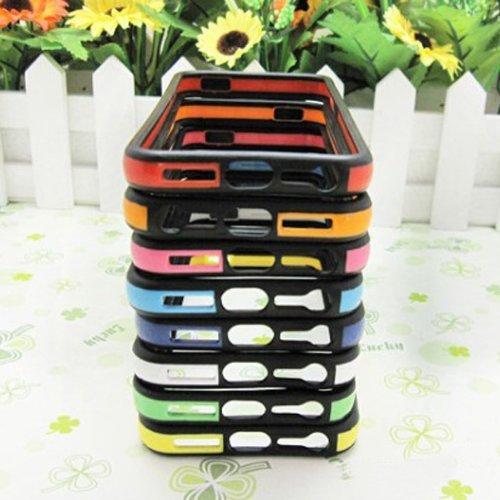 Case Frame Bumper silicone Protecteur pour iPhone 5 bleu clair