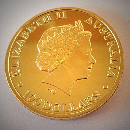 Preisvergleich Produktbild Münze 100 Dollar - 1oz Australian Kangaroo 2011 / Känguru - Gold plated