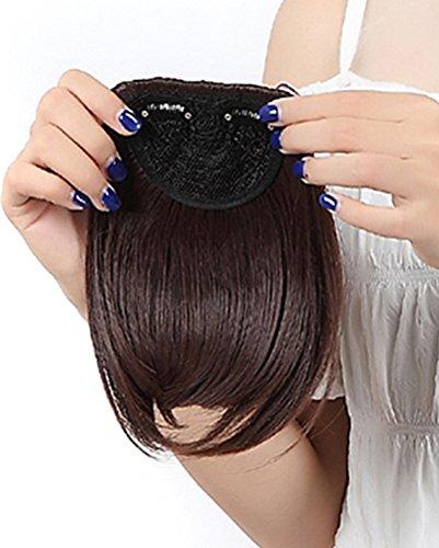 Ein Tresse Pony Clip in Haarverlaengerung Glatt 8