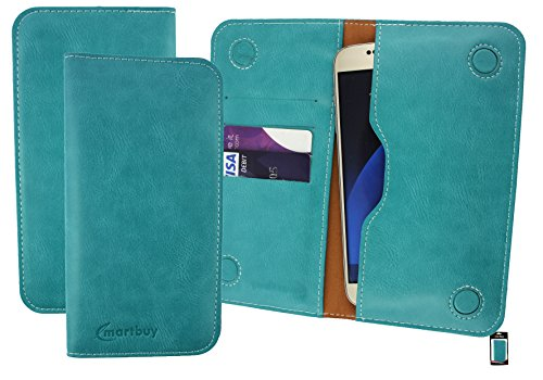 Emartbuy Turchese PU Pelle Magnetico Sottile Custodia Case Cover Sleeve ( Misura 5XL ) Adatta Per Padgene R30 5.5 Pollice