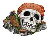 Nobby 28146 Aquarium Dekoration Aqua Ornaments, Piraten Totenkopf