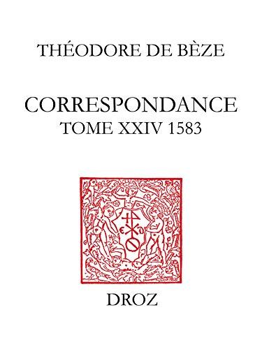 Lire en ligne Correspondance. Tome XXIV, 1583 epub, pdf