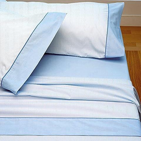 Burrito Blanco - Juego de sábanas Claro de Luna 297 para cama 135x190/200 cm, color azul