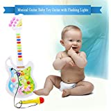 Bonzeal Early Childhood Children Electronic Musical Instrument Educational Guitar With Microphone Toy For Baby Kids Children