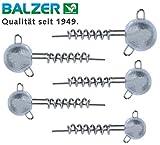 Balzer Shirasu Screw Jig Set - Schraubköpfe für Gummifische, Spiralköpfe für Gummiköder, Jigköpfe für Softbaits, Bleiköpfe