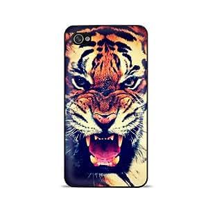 Coque pour iPhone 4/4S-Tigre Hurlant