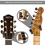 String Swing Guitar Hanger?Supporto per chitarra elettrica acustica e basso?Supporto accessori casa o studio Wall?strumenti musicali sicuro senza coperchio Cases?nero noce legno duro cc01K-bw 2-pack
