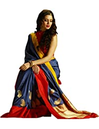 Sai Creation Women's Traditional Art Silk Saree Kanjivaram Style With Blouse(banarasi_kasavu_Sambalpuri Saree_Bomkai...