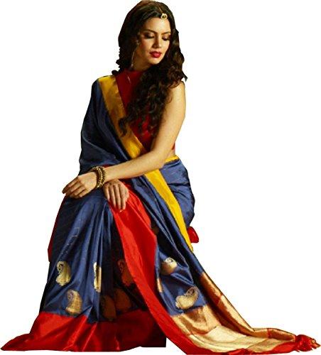 Sai creation Women's Traditional Art Silk Saree Kanjivaram Style With Blouse(banarasi_kasavu_Sambalpuri saree_Bomkai...