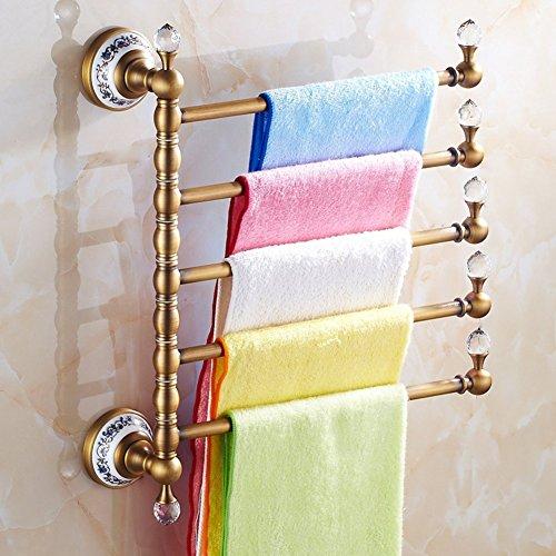 Creative Light-porte-serviettes Continental / Tout support porte-brosse à dents de cuivre / serviette épaississement / rotation Antique savon-A