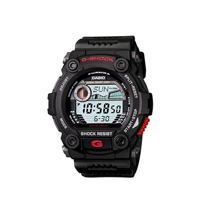 Casio G-Shock Digital Herren-Armbanduhr G-7900 rot-schwarz, 20 BAR