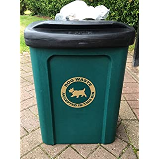 Advancedscape Ceaser 30 Litre Wall or Post Mountable Plastic Dog Waste Bin in GREEN c/w Wall & Post Fixings