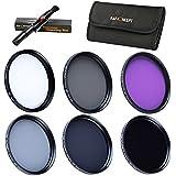 K&F Concept 40.5mm 6pcs UV CPL FLD ND2 ND4 ND8 Filtro Polarizzatore Circolare per UVFiltro Polarizzatore Circolare Filtro ND a densità variabile perSony 16-50 3N for Nikon V1 V2 10-30 + Stoffa di pulizia per lente + 6 Filtri