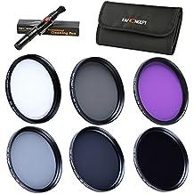 40.5mm Packs de Filtro Fotográfico - K&F Concept® Filtro polarizador Filtro Ultravioleta UV CPL FLD, ND2+ND4+ND8 Filtro de Densidad Nuetra para Canon Nikon DSLR Cámaras + Pluma de Limpieza + Estuche para 6 filtros