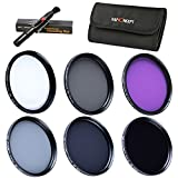 K&F Concept Objektiv Filterset 40.5mm Filter Set 40.5mm UV Filter CPL Polfilter FLD Filter 40.5mm ND Filter Set ND2 ND4 ND8 Filter 40.5mm mit Reinigungspinsel und Filtertasche