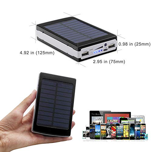 Promptout 20 LED Power Financial institution-20000Mah with Solar Led Charging Powerbank with Enter: 5V-2A (Max), Output: 5V-2A (Max) Dual Port Powerbank Image 6