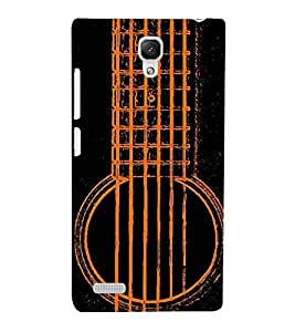For Xiaomi Redmi Note :: Xiaomi Redmi Note 4G nice guitar ( nice guitar, guitar, black background ) Printed Designer Back Case Cover By CHAPLOOS