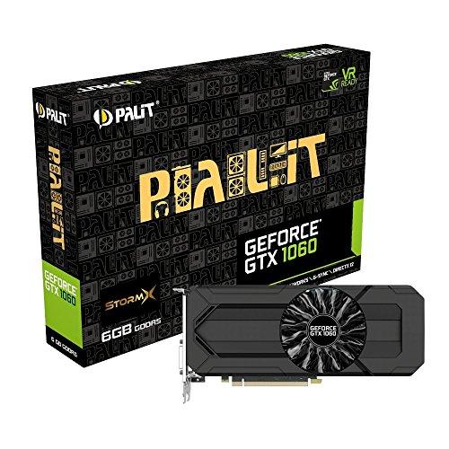Price comparison product image Palit GeForce GTX 1060 StormX 6 GB GDDR5 PCI Express 3.0 Graphics Card - Black,114222
