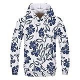 NINGSANJIN Herren Pullover Kapuzenpullover - V-Ausschnitt oder Kapuze - Modern-Fit - Hochwertige Baumwollmischung - Feinstrick-Pullover (Weiß,2XL)