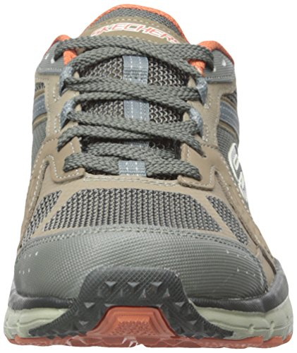 Skechers Geo-Trek Pro Force Hommes Toile Baskets Brown-Orange