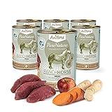 AniForte Poudre de purena Ture Ranch Horse–Cheval avec patates Douces & Pommes 6x 400g pour Rasage Doublure, sans céréales, Produit Naturel pour Chiens