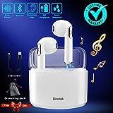 Kindak Compatible para Todos Móviles y Android Inalámbricos Auriculares Bluetooth Wireless In-Ear Micrófonos Manos Libres Cascos Earbuds Mini Headphone Earpods