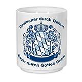 Geschenkbox Kaffeetasse mit Wappen und Aufdruck Bayer durch Gottes Gnade