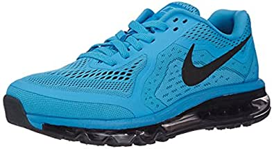 Nike Men's Air Max 2014 Vivid Blue,Black,Polarized Blue,Glacier Ice  Running Shoes -10 UK/India (45 EU)(11 US)