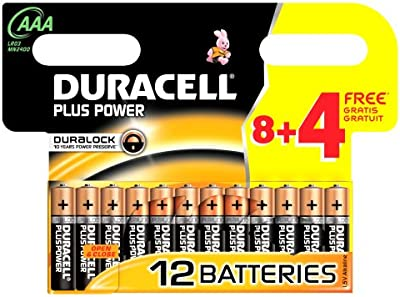 Duracell DUR018938 Plus - Pilas AAA (8 + 4 unidades)