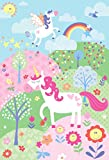 Little Big Cloud Riva Paoletti Einhorn Pink Art Wand 158 x 232 cm