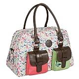 Lässig Vintage Metro Bag Wickeltasche/Babytasche inkl. Wickelunterlage Butterfly Spring