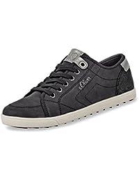 sports shoes a90af 5165d Oliver Damen Trend Schnür Sneaker mit Flacher Sohle in Schwarz Weiß mit ...