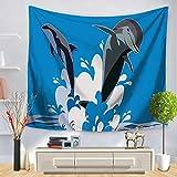 jzxjzx Fondo della Decorazione della Parete del Polipo della Stella Marina del Delfino del Fumetto della tappezzeria 21 75 * 90